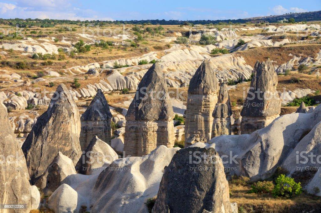 Rocks formations in Capadocia stock photo