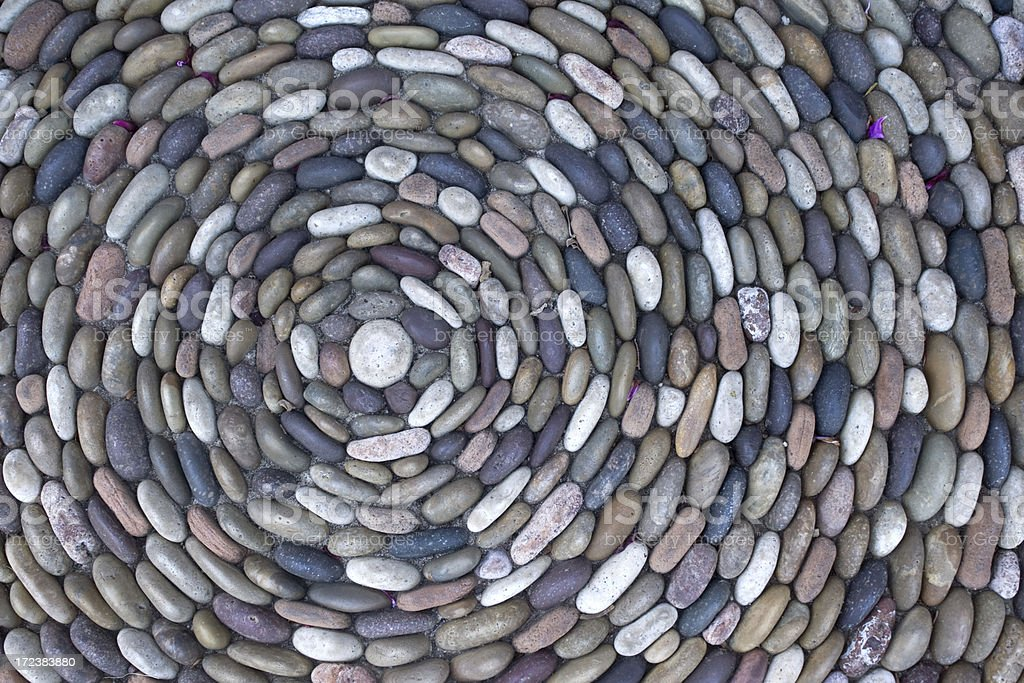 Rocks in a circle stock photo