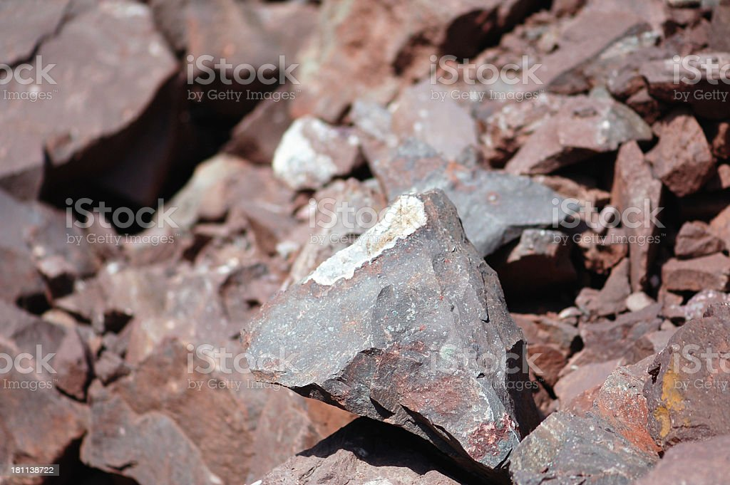 Rocks in an Open-pit Mine royalty-free stock photo