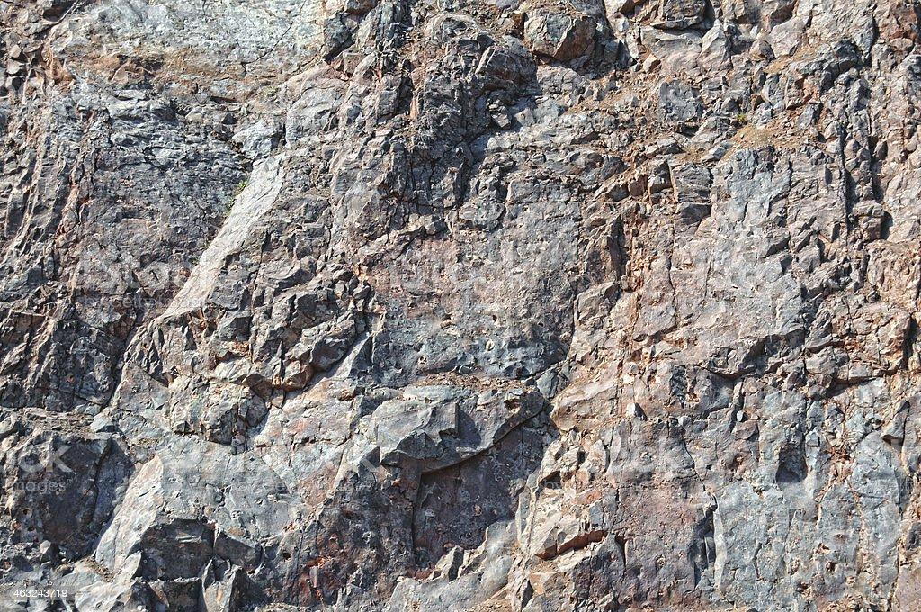 Rocks in an Open-pit Mine stock photo