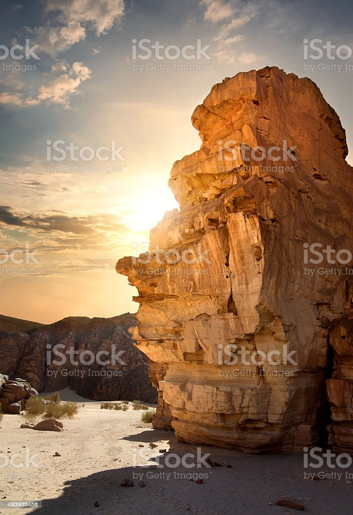 Rocks in canyon stock photo