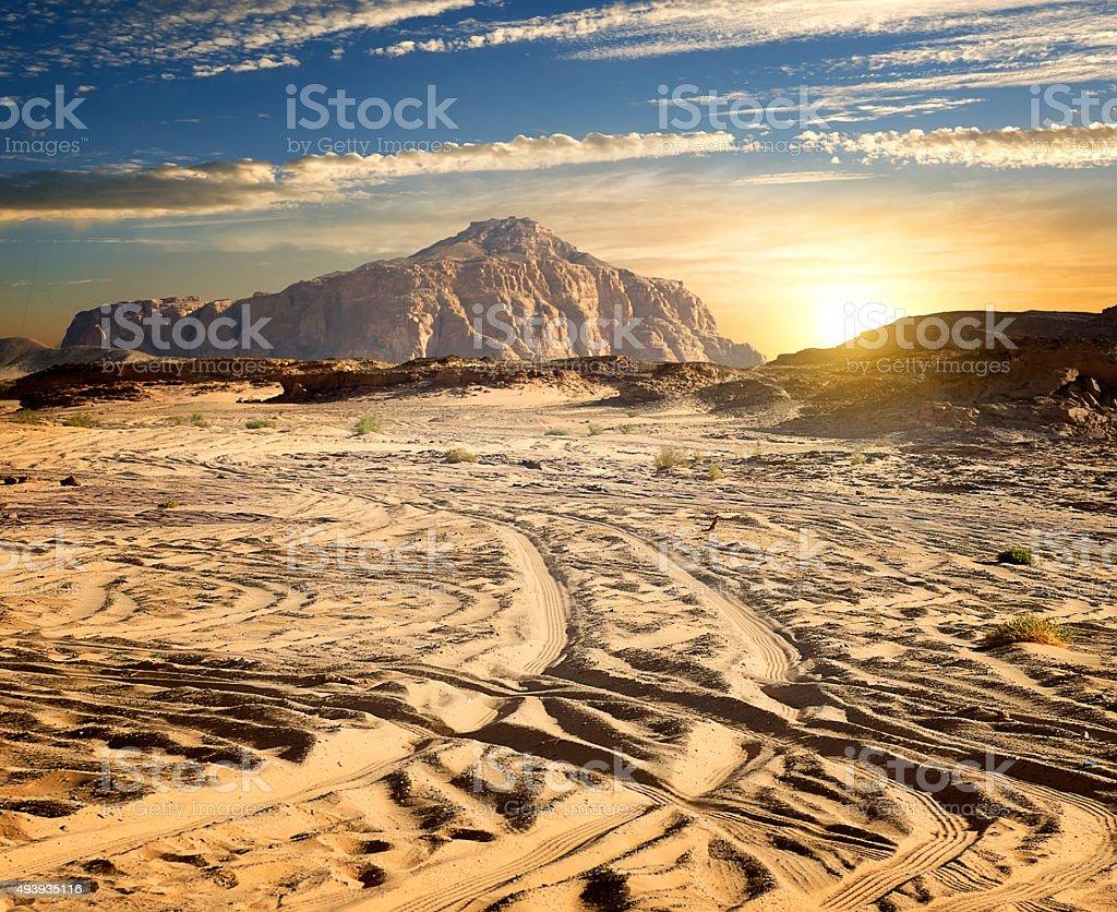 Rocks in desert stock photo