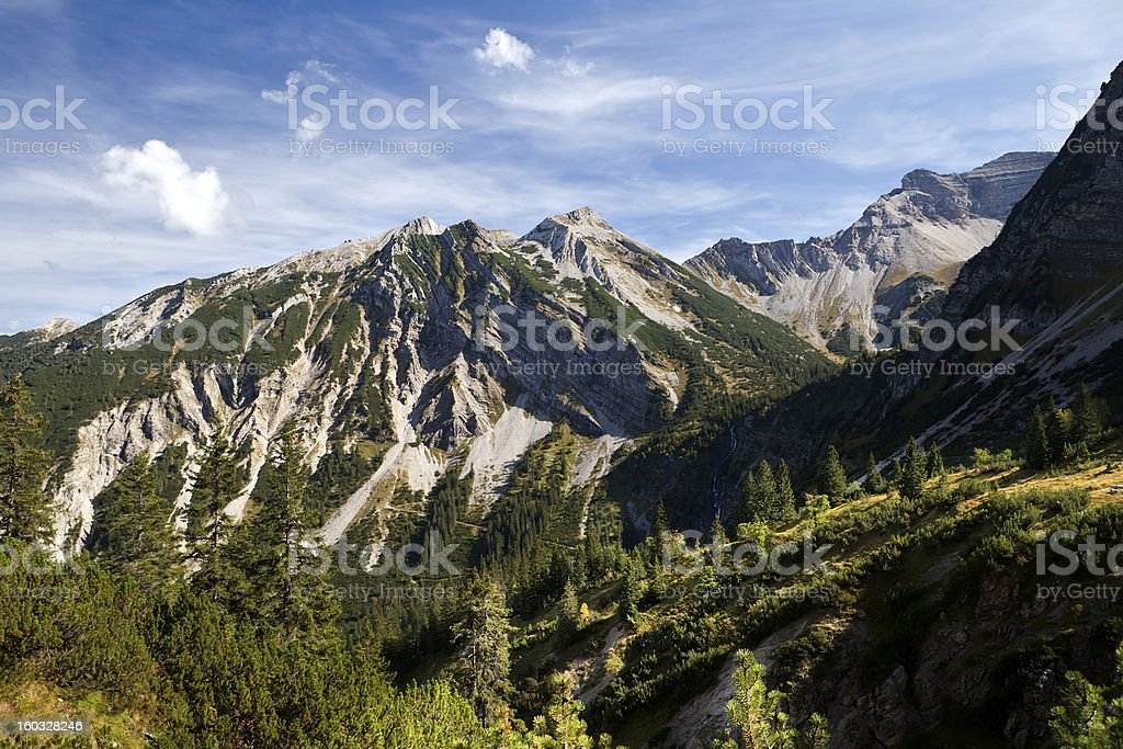 rocks in European Alps royalty-free stock photo