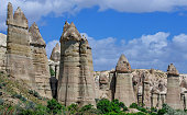 Rocks in form of huge phalli valley Love, Cappadocia, Turkey