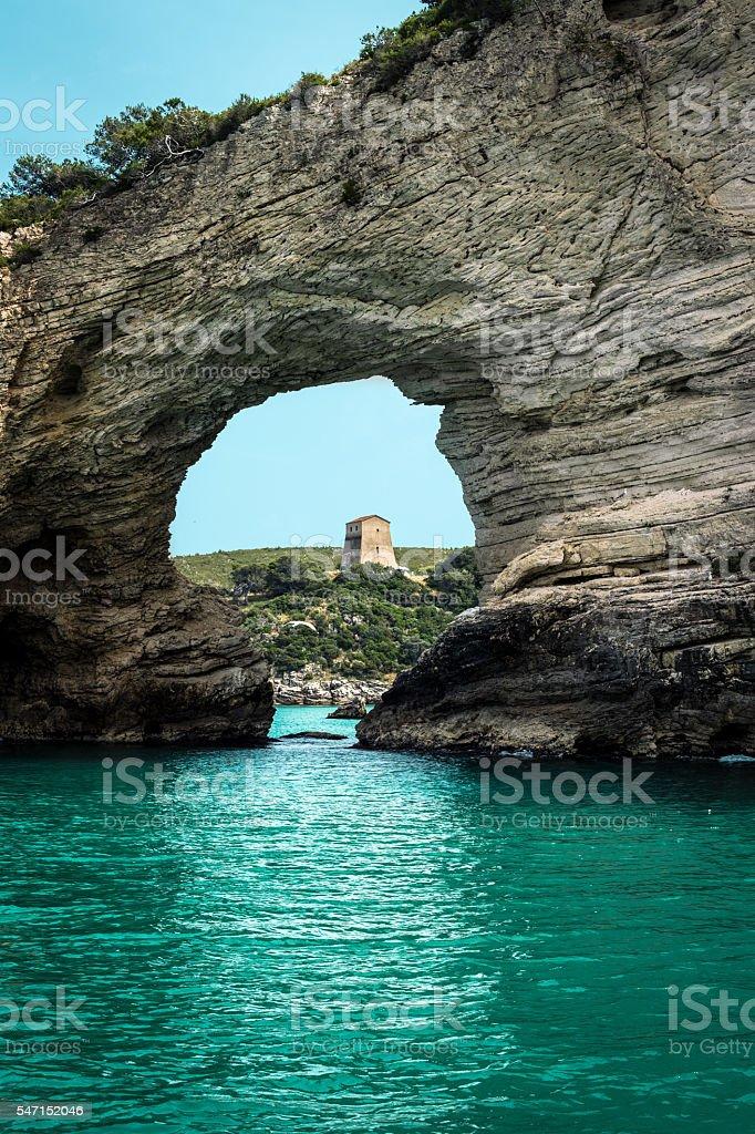 Rocks in Gargano, Apulia, Italy stock photo