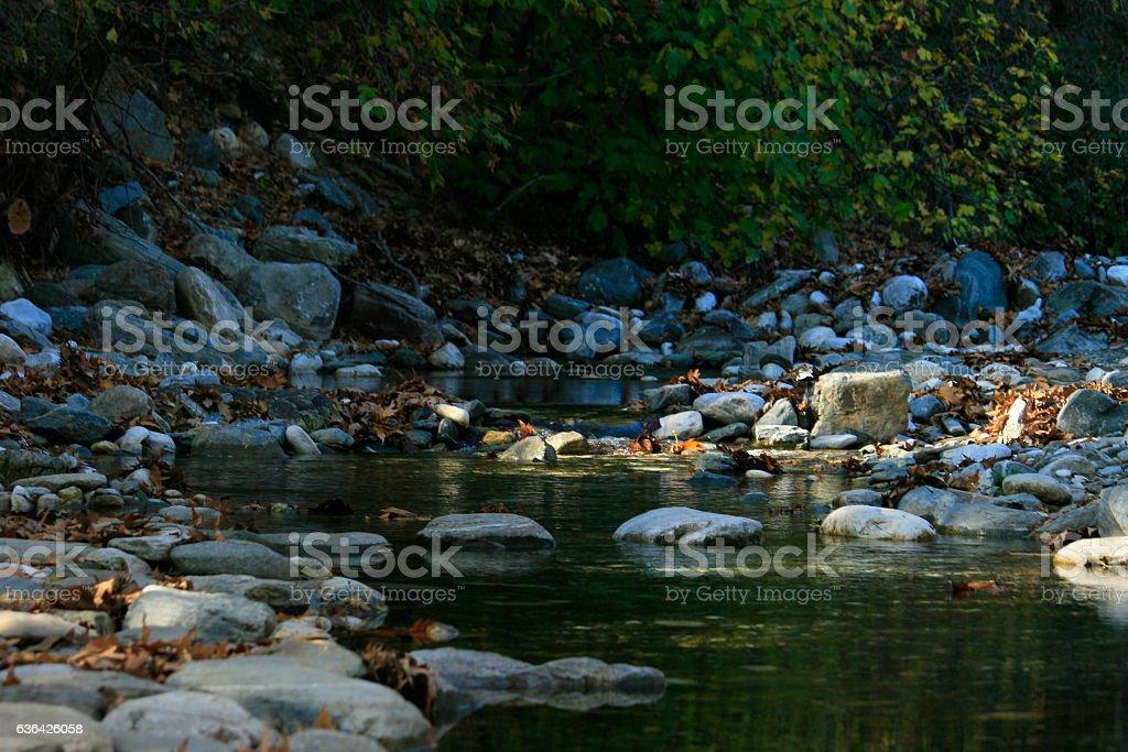 Rocks in Green River stock photo