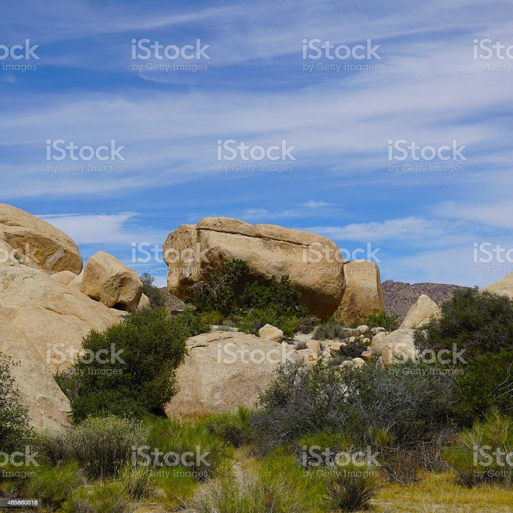 Rocks in Joshua Tree stock photo