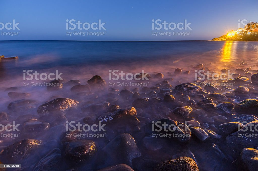 Rocks in Madeira stock photo