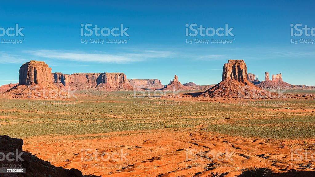 Rocks in Monument Valley. stock photo