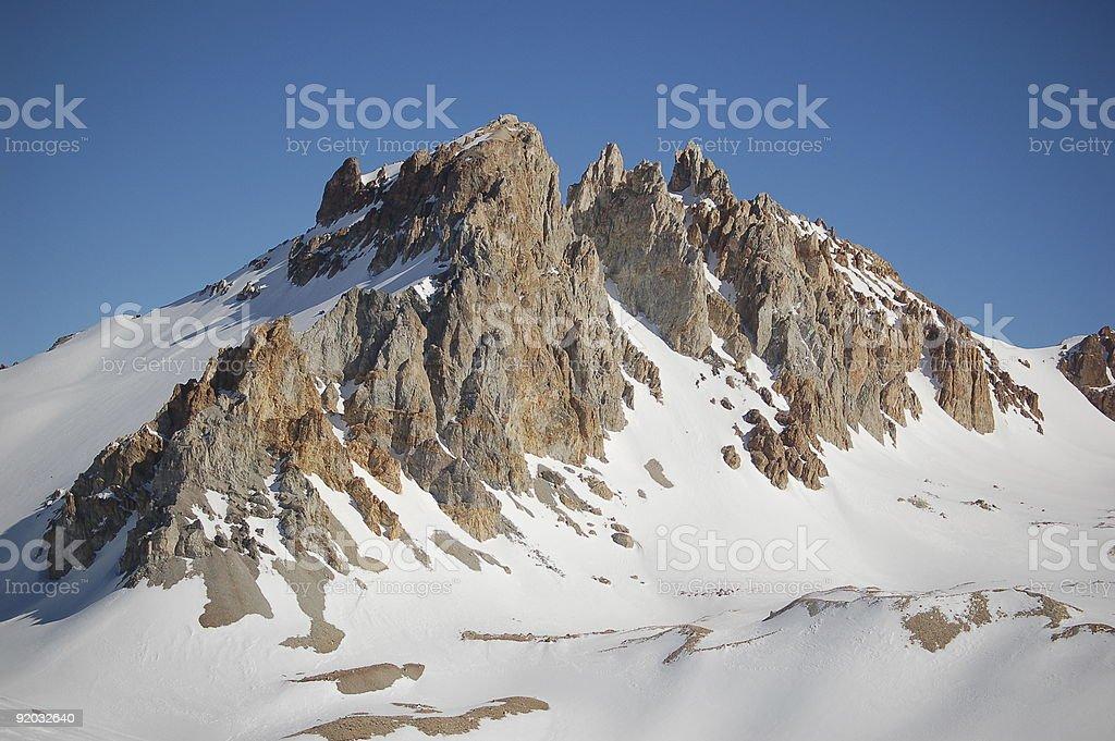 Rocks w śniegu i Słońce zbiór zdjęć royalty-free