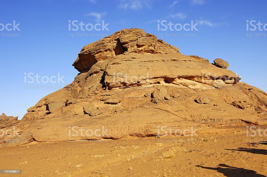 rocks in the Acacus Mountains stock photo