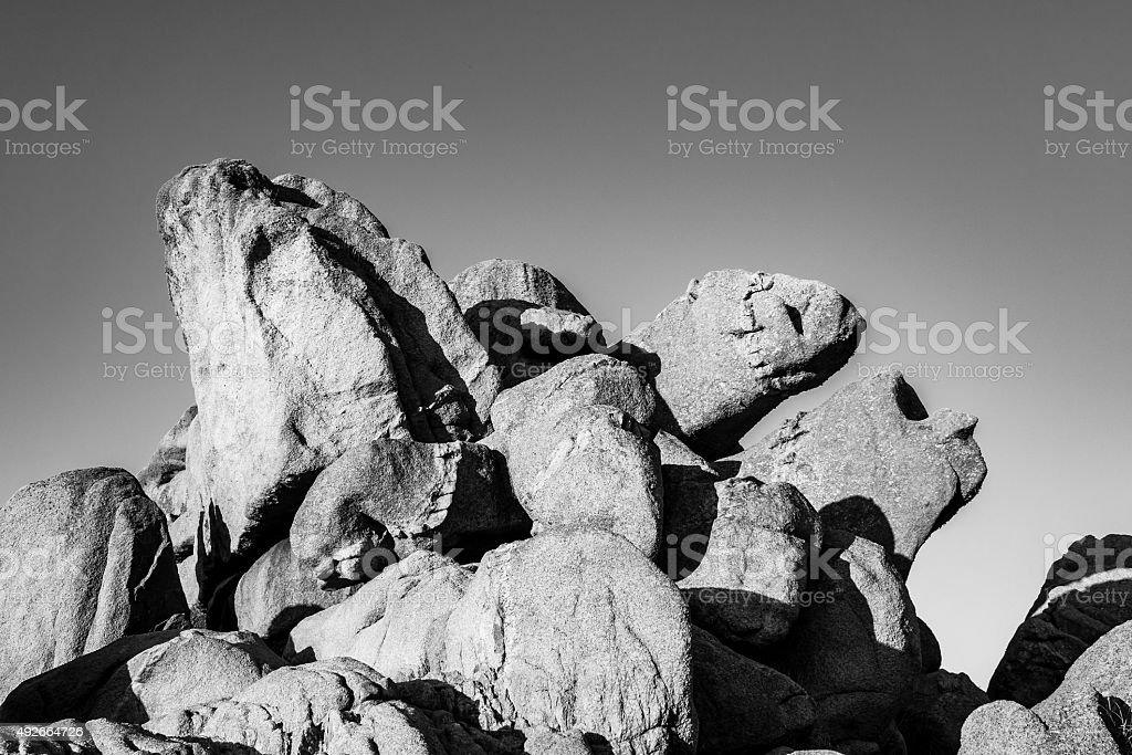 Rocks in the Brittany stock photo