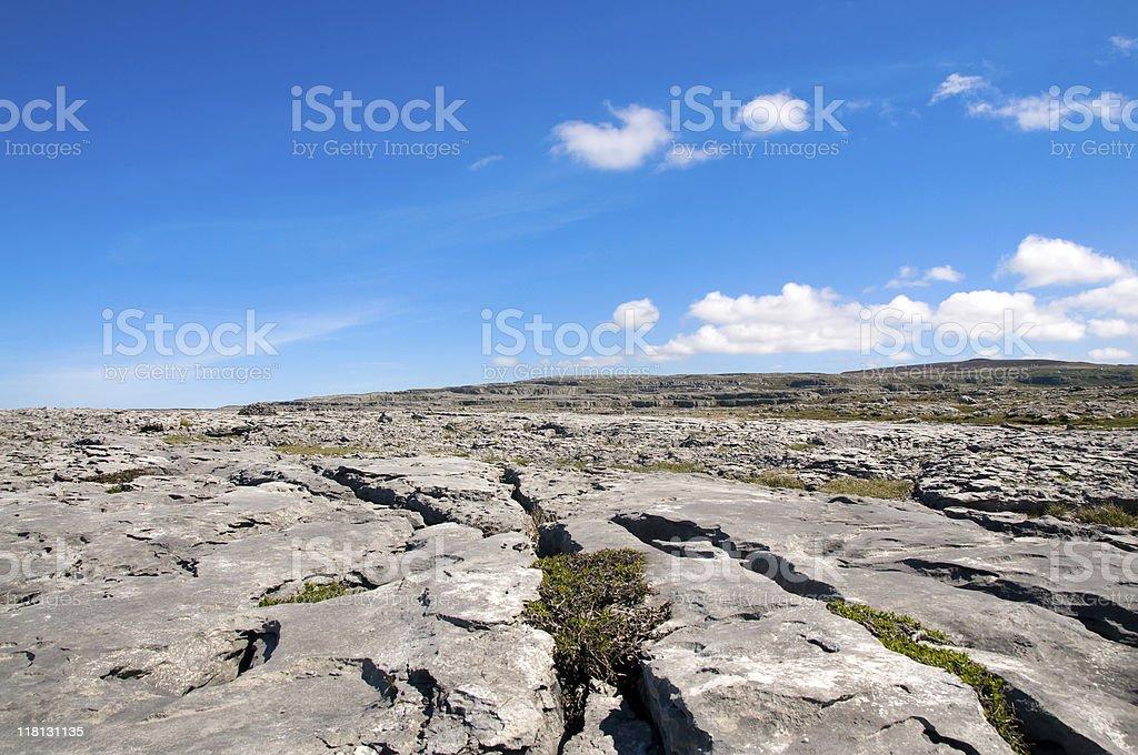 Rocks in the Burren royalty-free stock photo