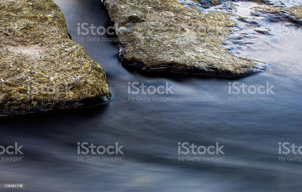 Rocks in the creek stream royalty-free stock photo