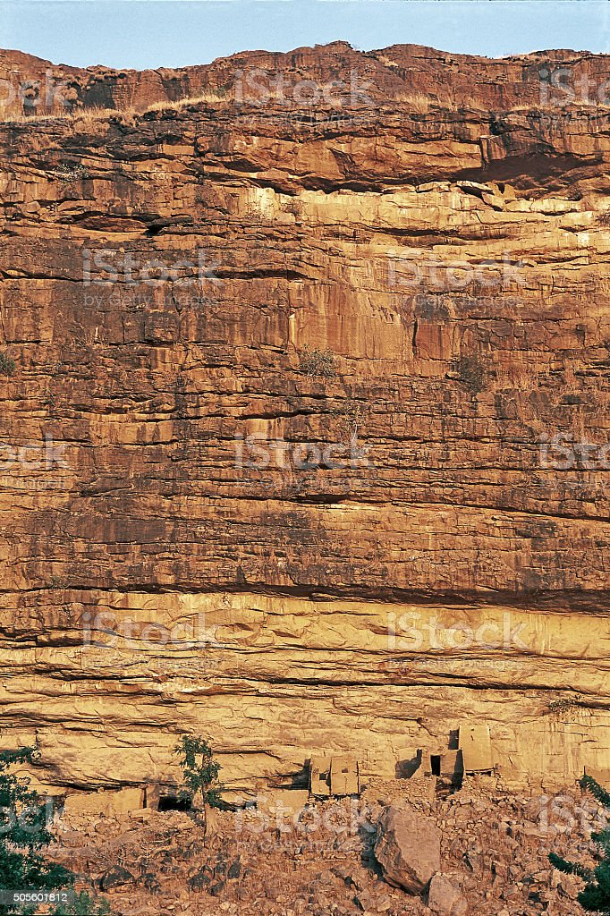 Rocks in the Falaise de Bandiagara stock photo