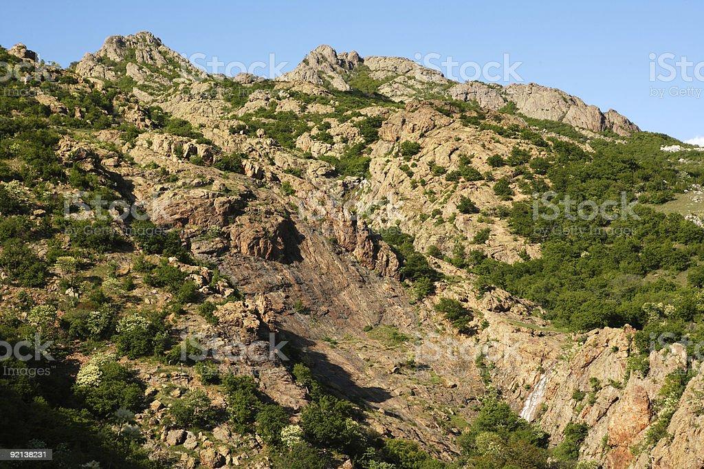 Rocks in the Karandila mountain stock photo