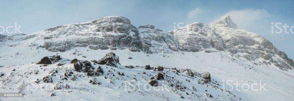 Rocks in the Khibiny stock photo