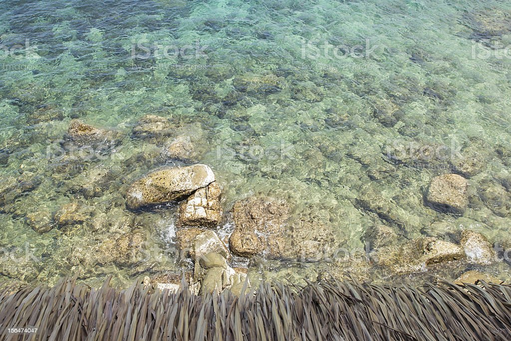 Rocks in the ocean top view royalty-free stock photo