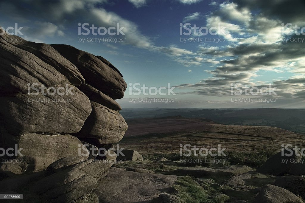 Rocks in the Peak District stock photo