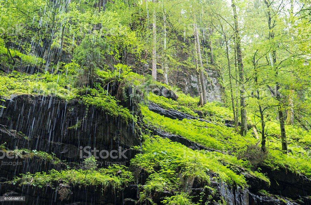 Rocks in the ravine Breitachklamm (Oberstdorf, Germany) stock photo