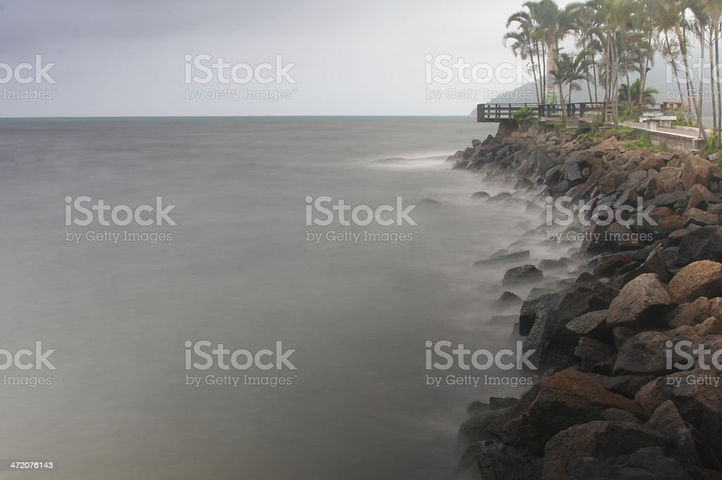 Rocks in the sea royalty-free stock photo
