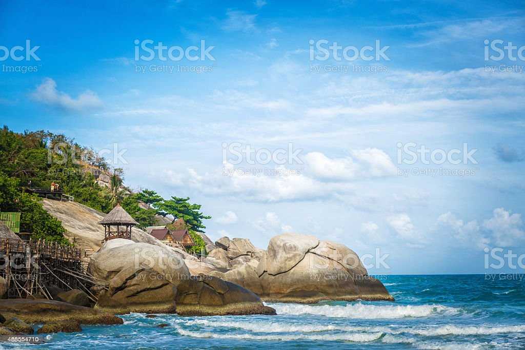 Rocks in the sea stock photo