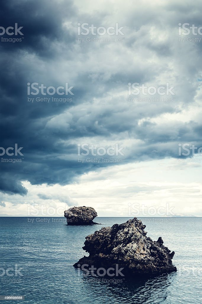 Rocks In The Sea stock photo