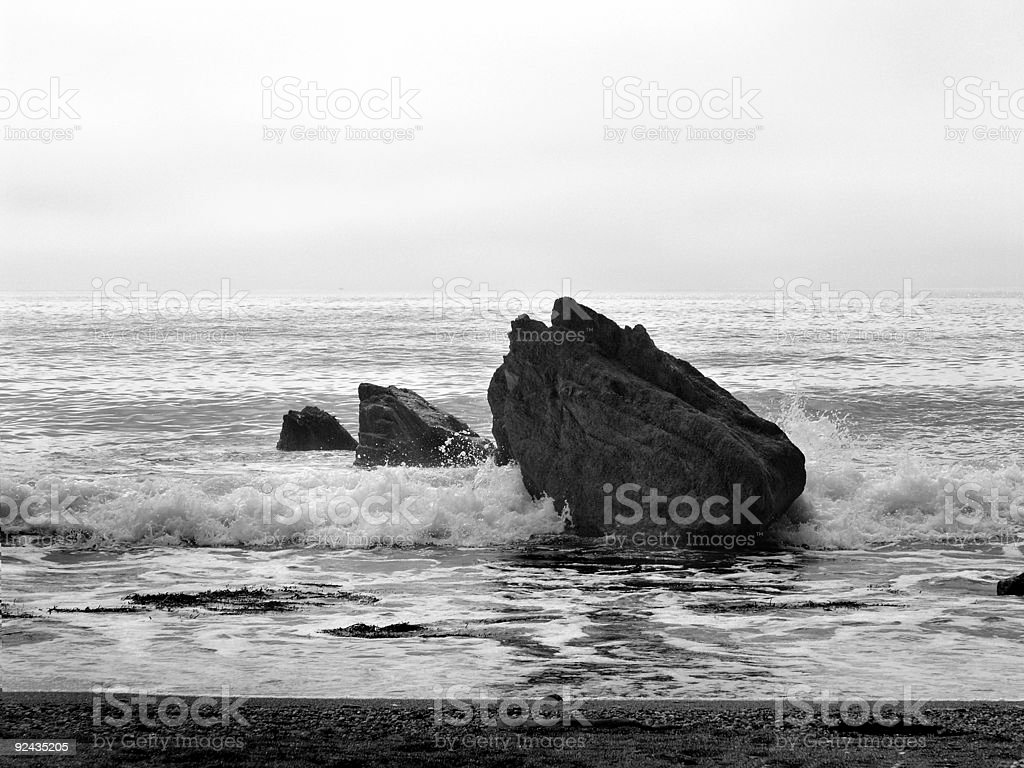 Rocks in the waves royalty-free stock photo