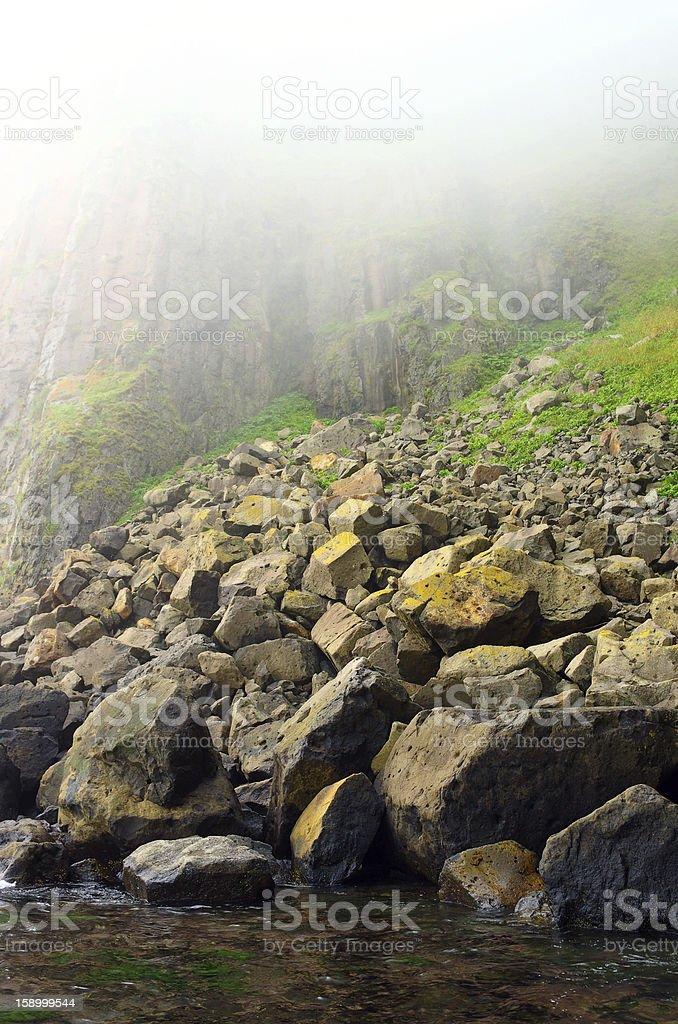 Rocks mist royalty-free stock photo