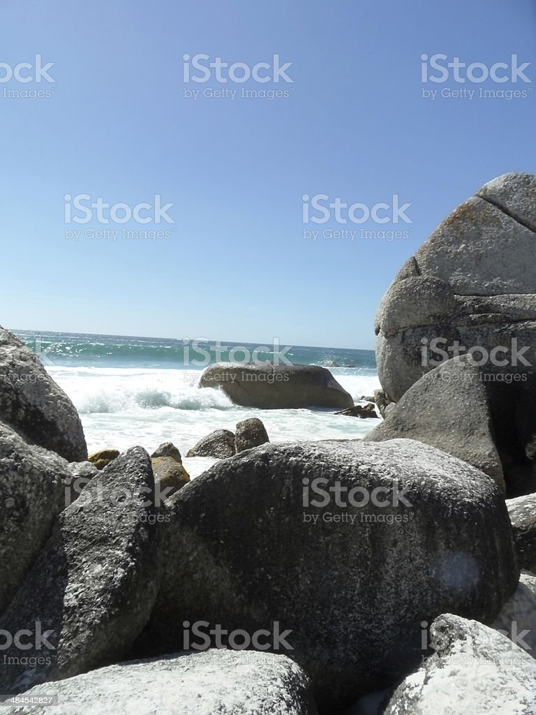 Rocks of Clifton Beach stock photo