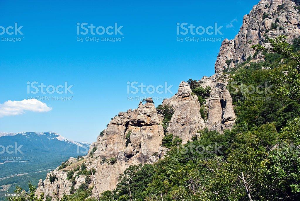 Rocks of Dimerdzhi stock photo