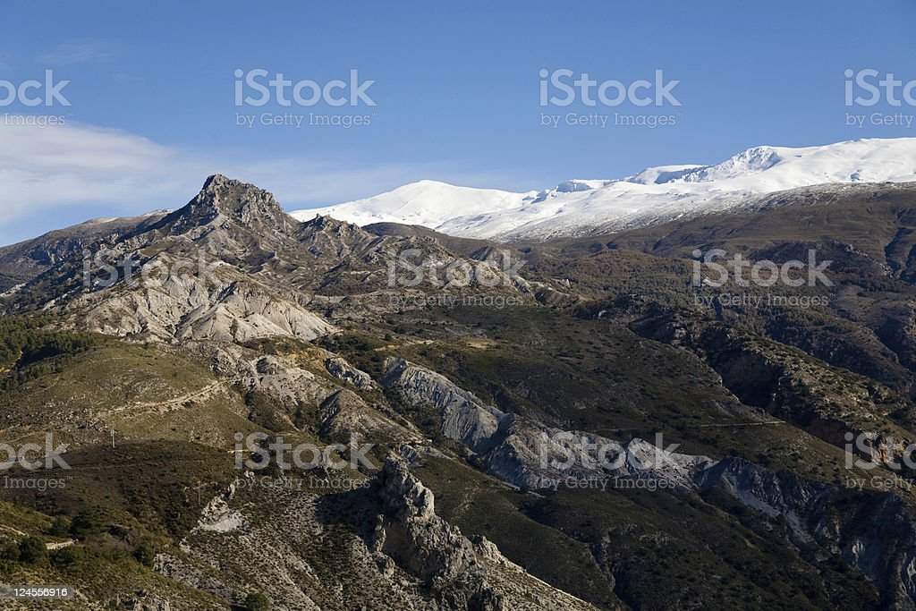 Rocks of the Sierra Nevadas, Andalusia, Spain royalty-free stock photo