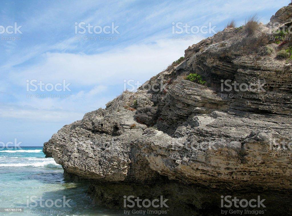 Rocks on a bay stock photo