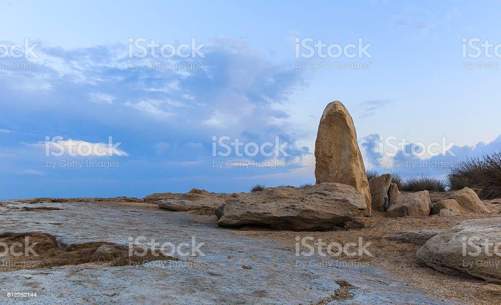 Rocks on one of the coasts of the Caspian Sea.Azerbaijan stock photo