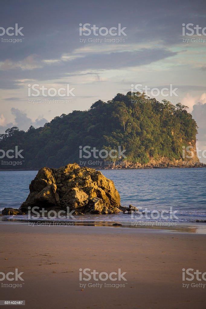 Rocks on the beach in Costa Rica stock photo