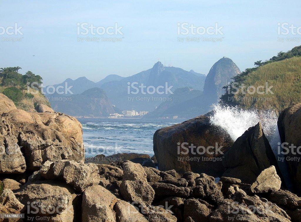 Rocks on the beach royalty-free stock photo