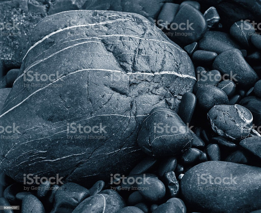 Rocks on the Beach. stock photo
