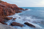 Rocks on the coast near Livorno in Tuscany region
