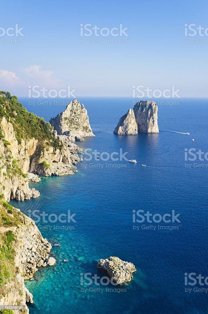 Rocks (Capri Island) stock photo