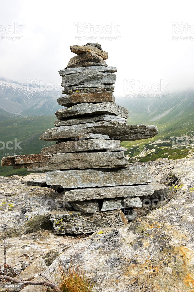 Rocks, stacked royalty-free stock photo