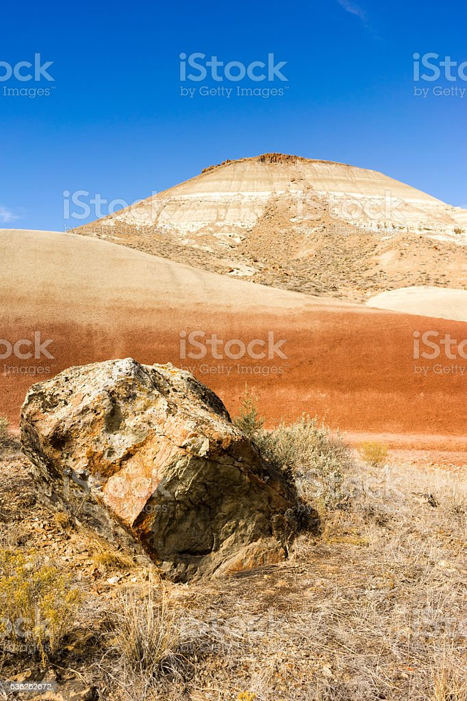 Rocks Terrain John Day Fossil Beds Oregon State stock photo