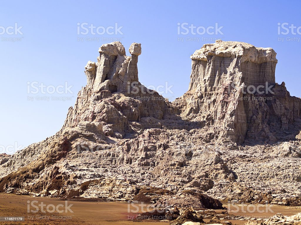 Rocks town stock photo