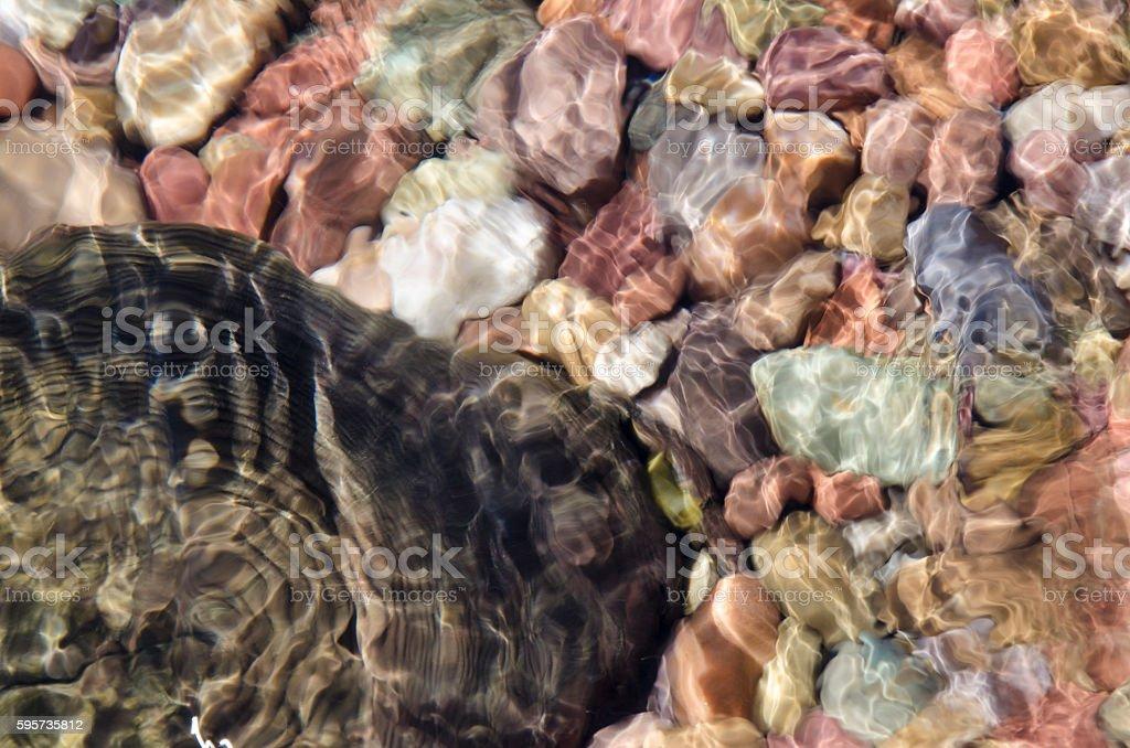 Rocks Under Rippling Water stock photo