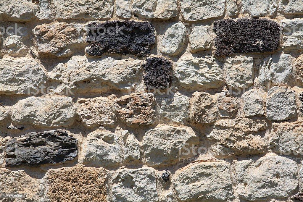 rocks wall royalty-free stock photo