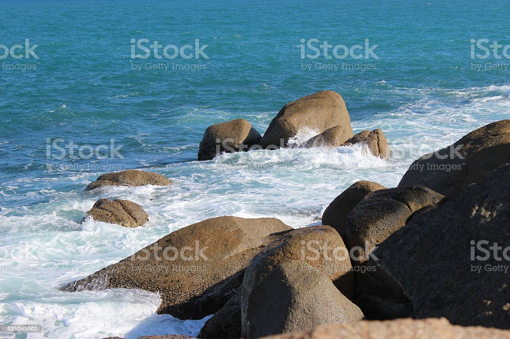 Rocks washed by Sea royalty-free stock photo