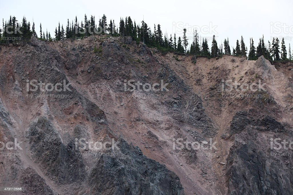 Rockslide stock photo