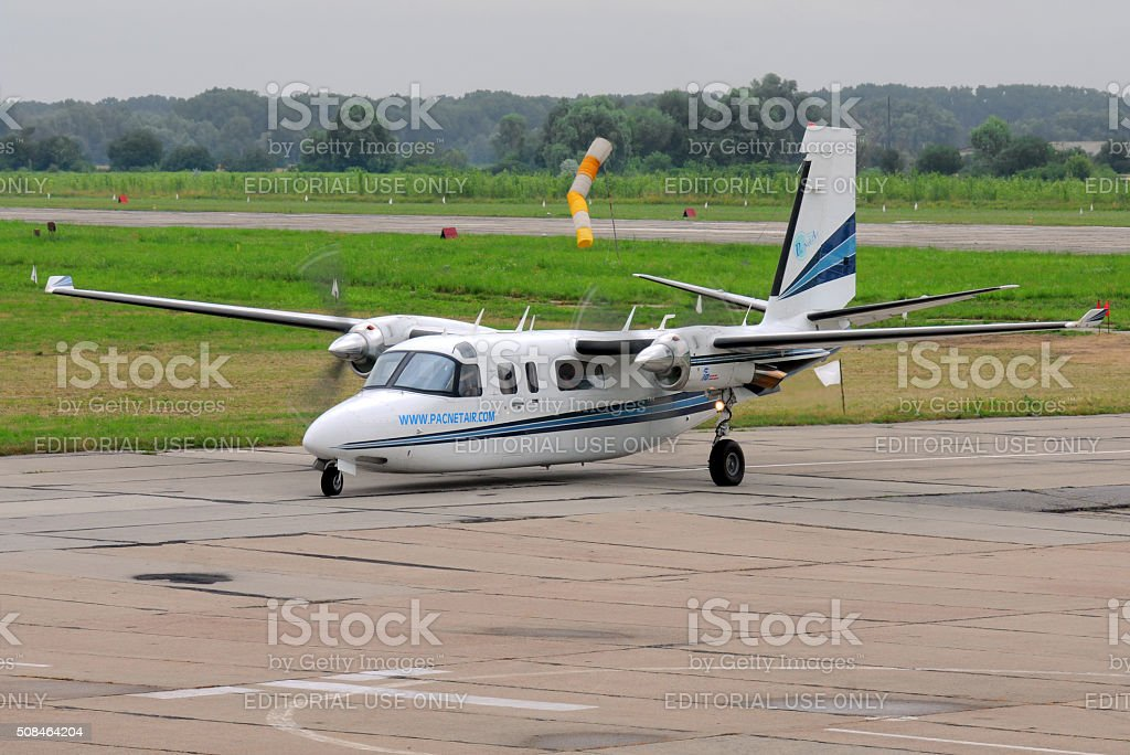 Rockwell Commander aircraft stock photo