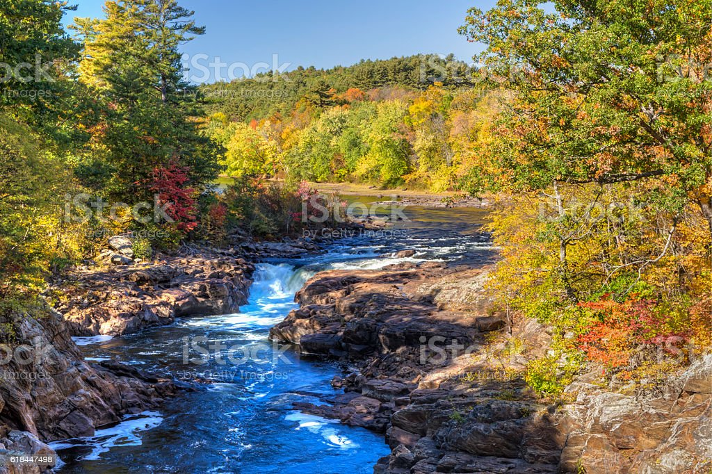 Rockwell Falls on the Hudson stock photo