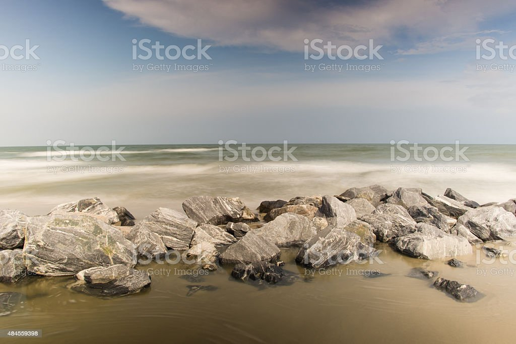 Rocky Atlantic Ocean Beach stock photo