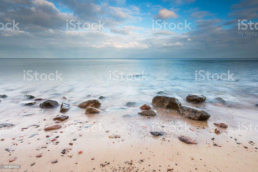 Rocky Baltic sea shore stock photo